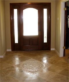 Tiled entryway